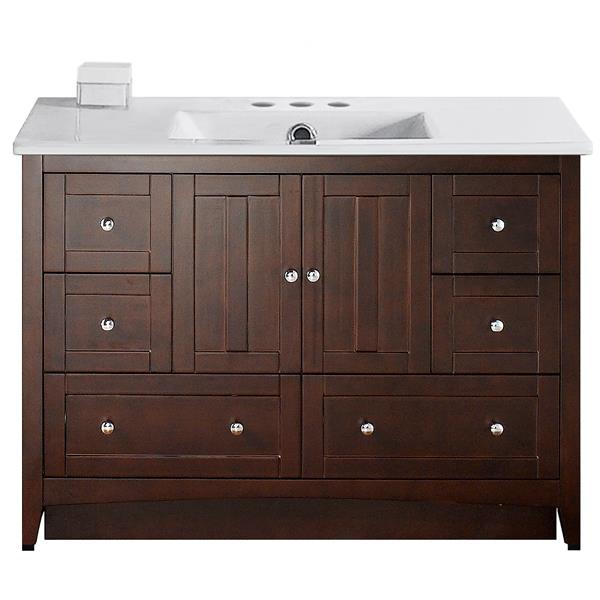 "Ensemble de meuble-lavabo, 48"", brun"