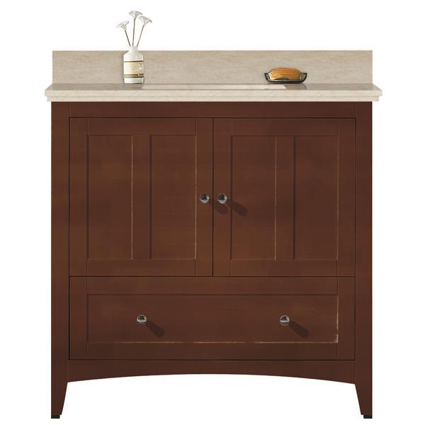 "Ensemble de meuble-lavabo, 36"", brun"
