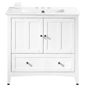 "Ensemble de meuble-lavabo, 35,5"", blanc"