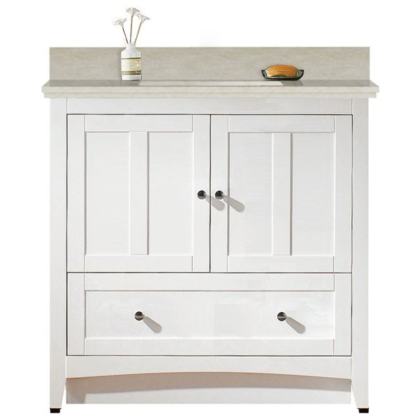 "Ensemble de meuble-lavabo, 36"", blanc"