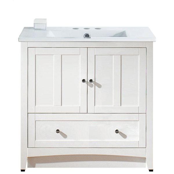 "Ensemble de meuble-lavabo, 35,5"", blanc"