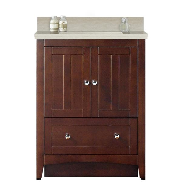 "Ensemble de meuble-lavabo, 30,5"", brun"