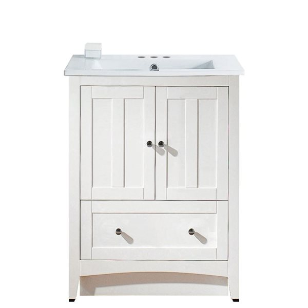 "Ensemble de meuble-lavabo, 30"", blanc"