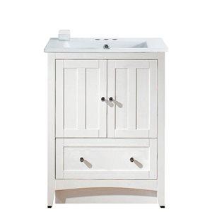 "Ensemble de meuble-lavabo, 30"", blanc"
