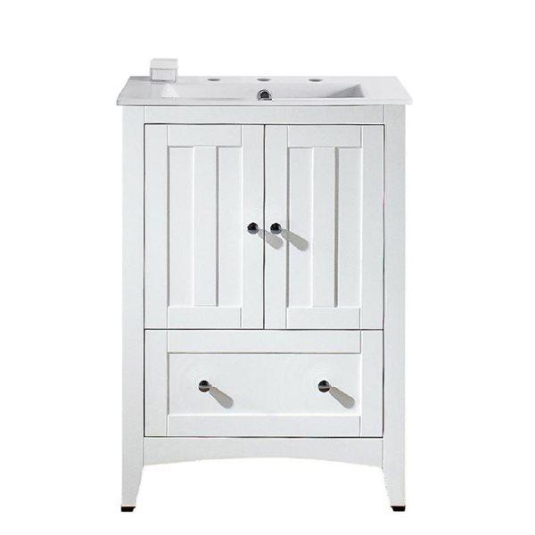 "Ensemble de meuble-lavabo, 23,5"", blanc"
