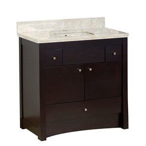 "Ensemble de meuble-lavabo, 36"", brun"