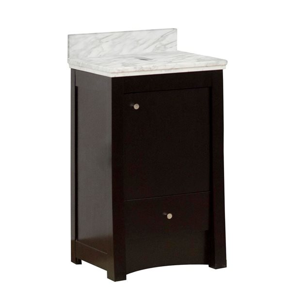 "Ensemble de meuble-lavabo, 19,75"", brun"