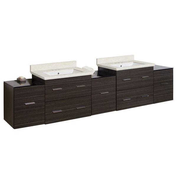 """Ensemble de meuble-lavabo, 88,5"""", gris"""