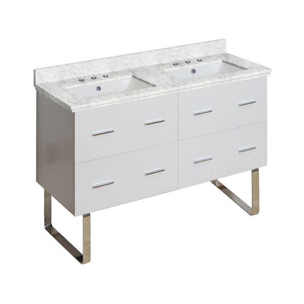 "Ensemble de meuble-lavabo, 47,5"", blanc"