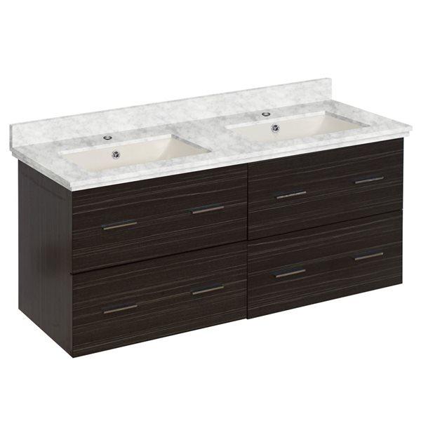 """Ensemble de meuble-lavabo, 47,5"""", gris"""