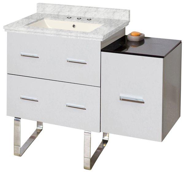 "Ensemble de meuble-lavabo, 37,75"", blanc"