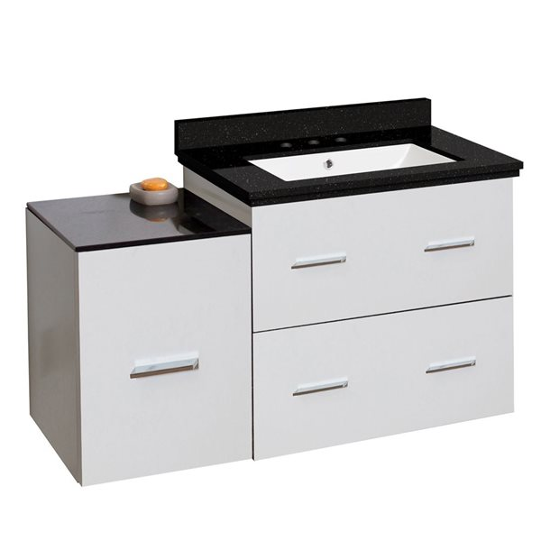 "Ensemble de meuble-lavabo, 37,75"", blanc"
