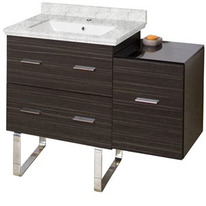 "Ensemble de meuble-lavabo, 37,75"", gris"