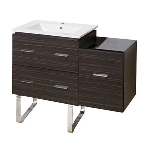Xena Farmhouse 37.75-in Gray Bathroom Vanity with Ceramic Top
