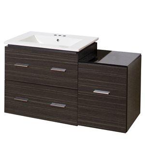 Xena Farmhouse 37.75-in Gray Bathroom Vanity with Ceramic Top