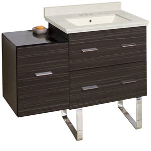 Xena Farmhouse 37.75-in Gray Bathroom Vanity with Marble Top