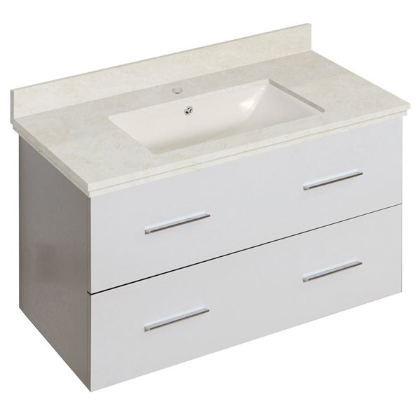 "Ensemble de meuble-lavabo, 36"", blanc"
