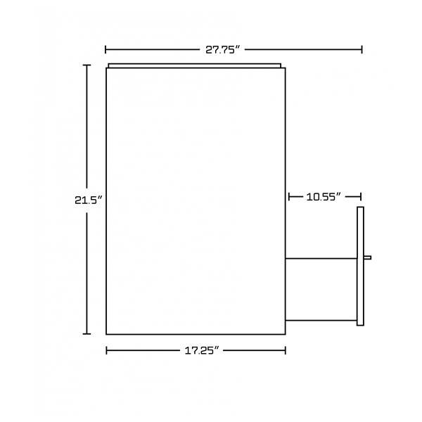 """Base de meuble-lavabo, 37,25"""", blanc/charbon"""
