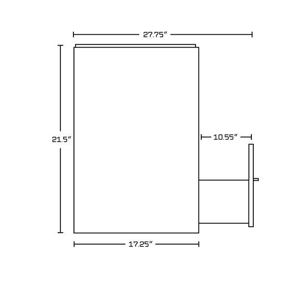 """Base de meuble-lavabo, 69,25"""", blanc/charbon"""