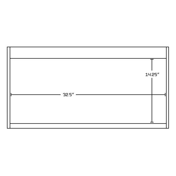 """Base de meuble-lavabo, 92,75"""", blanc/charbon"""