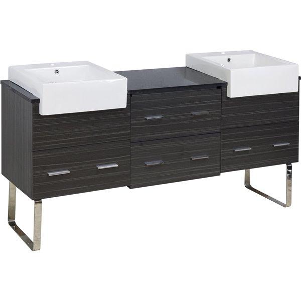 """Base de meuble-lavabo, 68,75"""", blanc/charbon"""