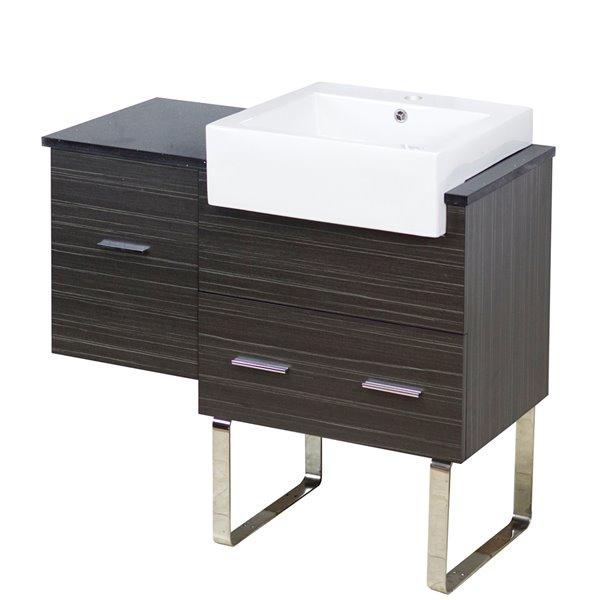 """Base de meuble-lavabo, 36,75"""", blanc/charbon"""