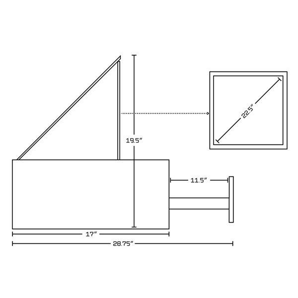 """Base de meuble-lavabo, 59,25"""", blanc/charbon"""