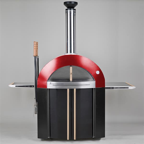 Forno Venetzia Bellagio 300 44-in Red Outdoor Wood-Fired Pizza Oven