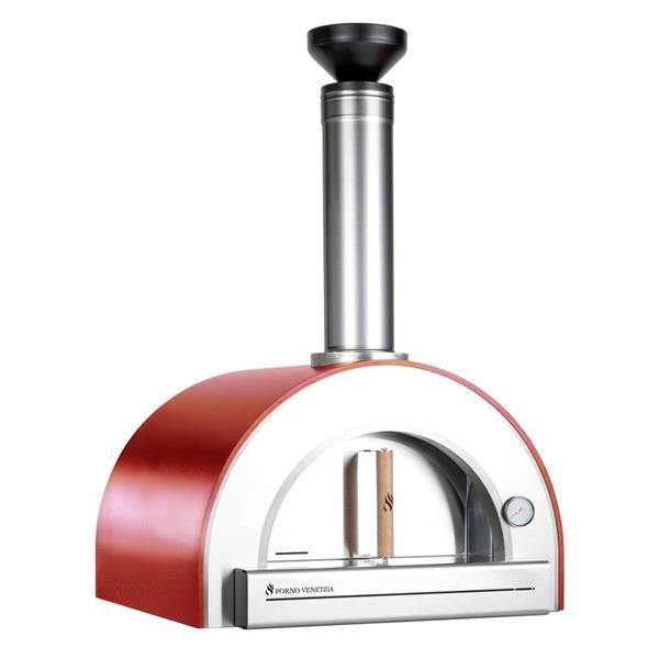 """Four à pizza extérieur Pronto 200, Rouge, 33"""""""