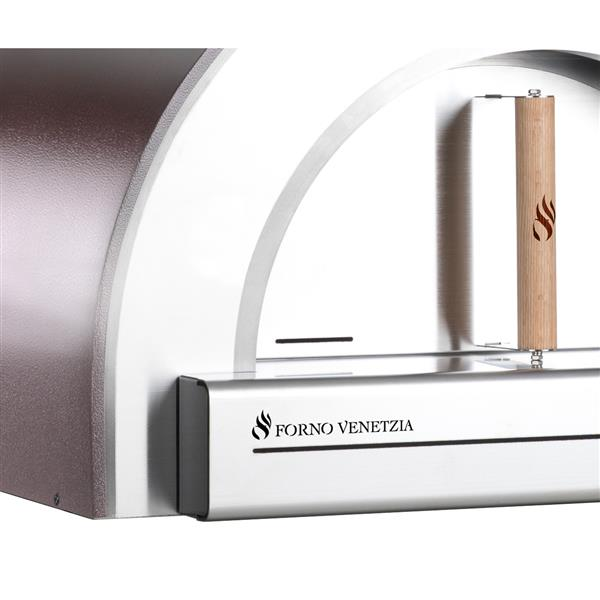Forno Venetzia Pronto 200 Stainless Stell 33-in Countertop Outdoor Wood-Fired Pizza Oven
