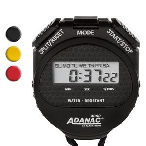Marathon Black Square Stopwatch Timer