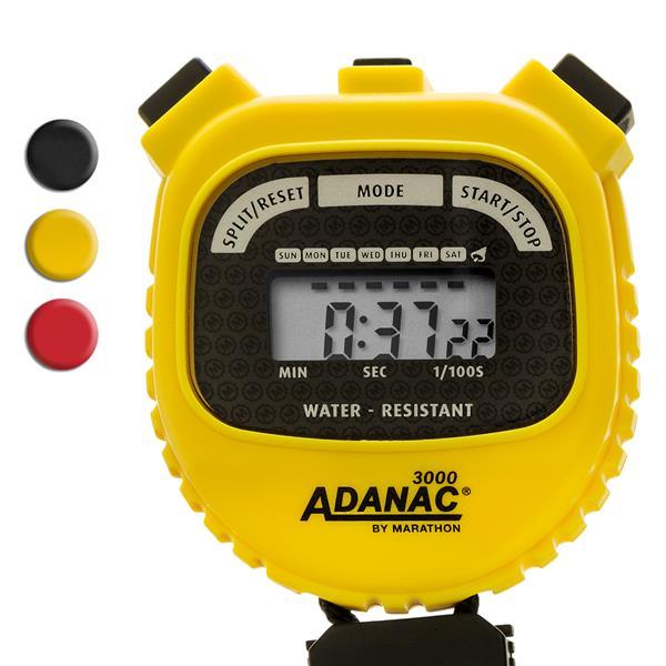 Chronomètre Marathon, carré, jaune