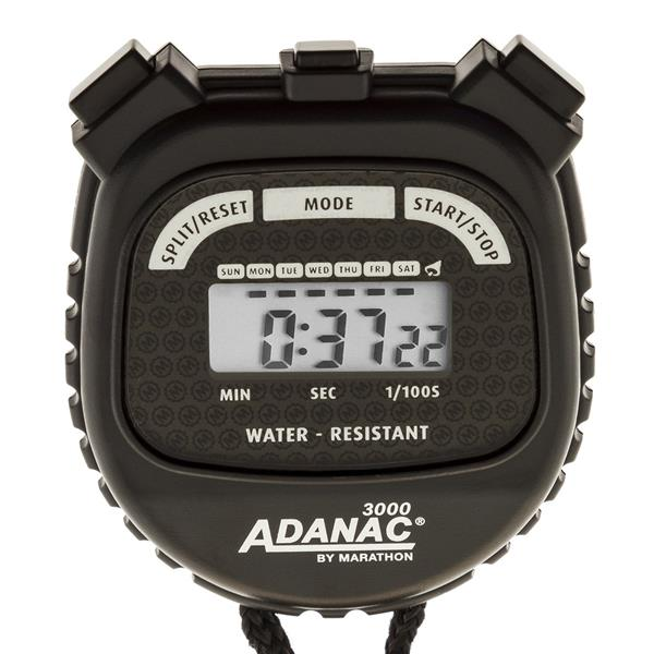 Marathon Adanac 3000 Black Square Digital Stopwatch Timer