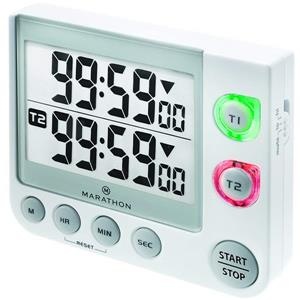 Marathon Large Display White Square Timer