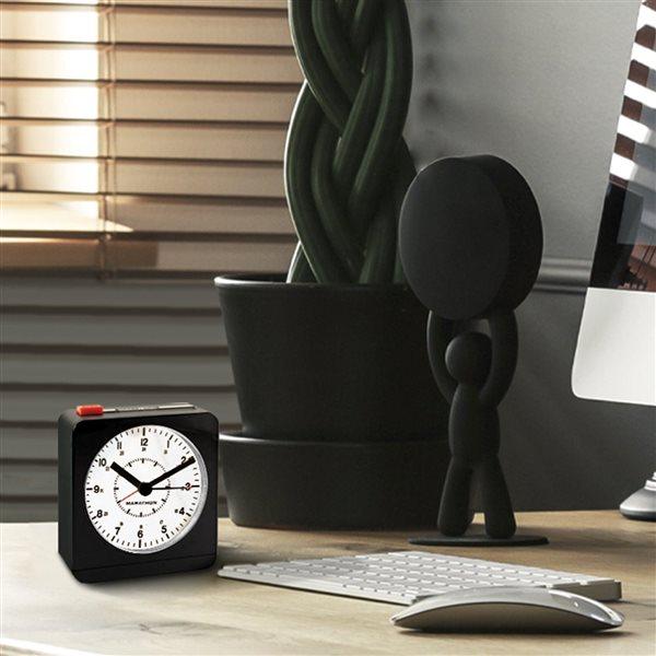 Horloge de bureau Marathon, carré