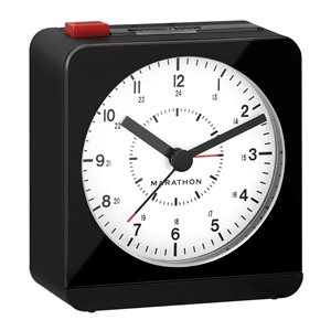 Marathon Black Square Desk Alarm Clock