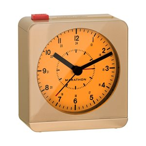 Marathon Gold Square Desk Alarm Clock