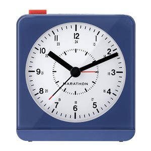 Marathon Blue Square Desk Alarm Clock