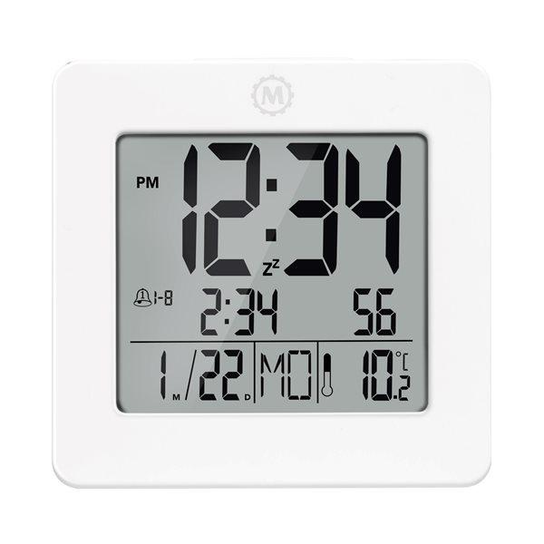 Marathon White Square Digital Alarm Clock CL030050WH | RONA