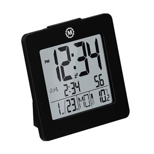 Marathon Black Square Digital Alarm Clock