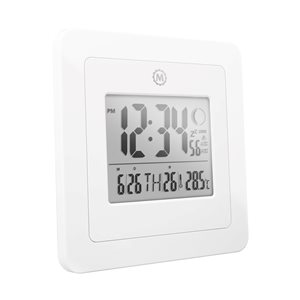 Marathon White Square Digital Clock