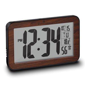Marathon Wood Rectangle Digital Wall Clock