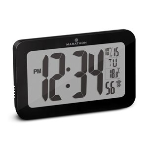 Marathon Black Digital Wall Clock