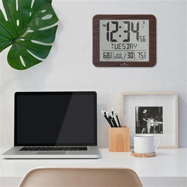 Calendrier numérique Marathon, rectangle, bois
