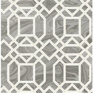 Papier peint Daphne Trellis, gris