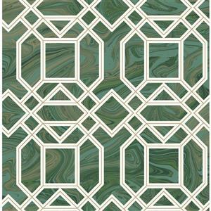 Papier peint Daphne Trellis, vert