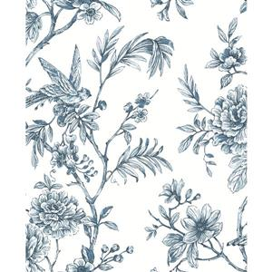 Papier peint Jessamine florale, bleu