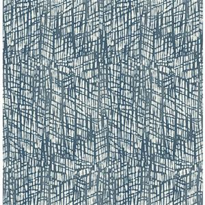 A-Street Prints Shimmer Abstract Textured Blue 56.40sq-ft Unpasted Wallpaper