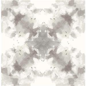 Papier peint abstrait mystérieux, taupe