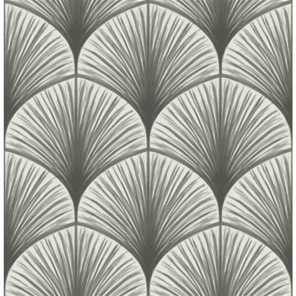 A-Street Prints Grey Dusk Non-Woven Paste The Wall Frond Wallpaper